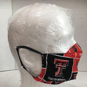 Texas tech university cotton face mask.